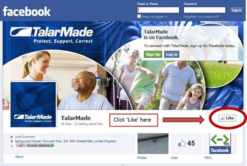 Like the TalarMade Facebook Page