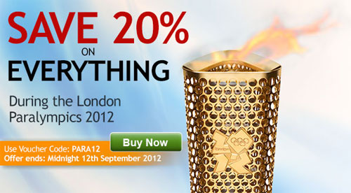 Save 20% during the Paralympics 2012